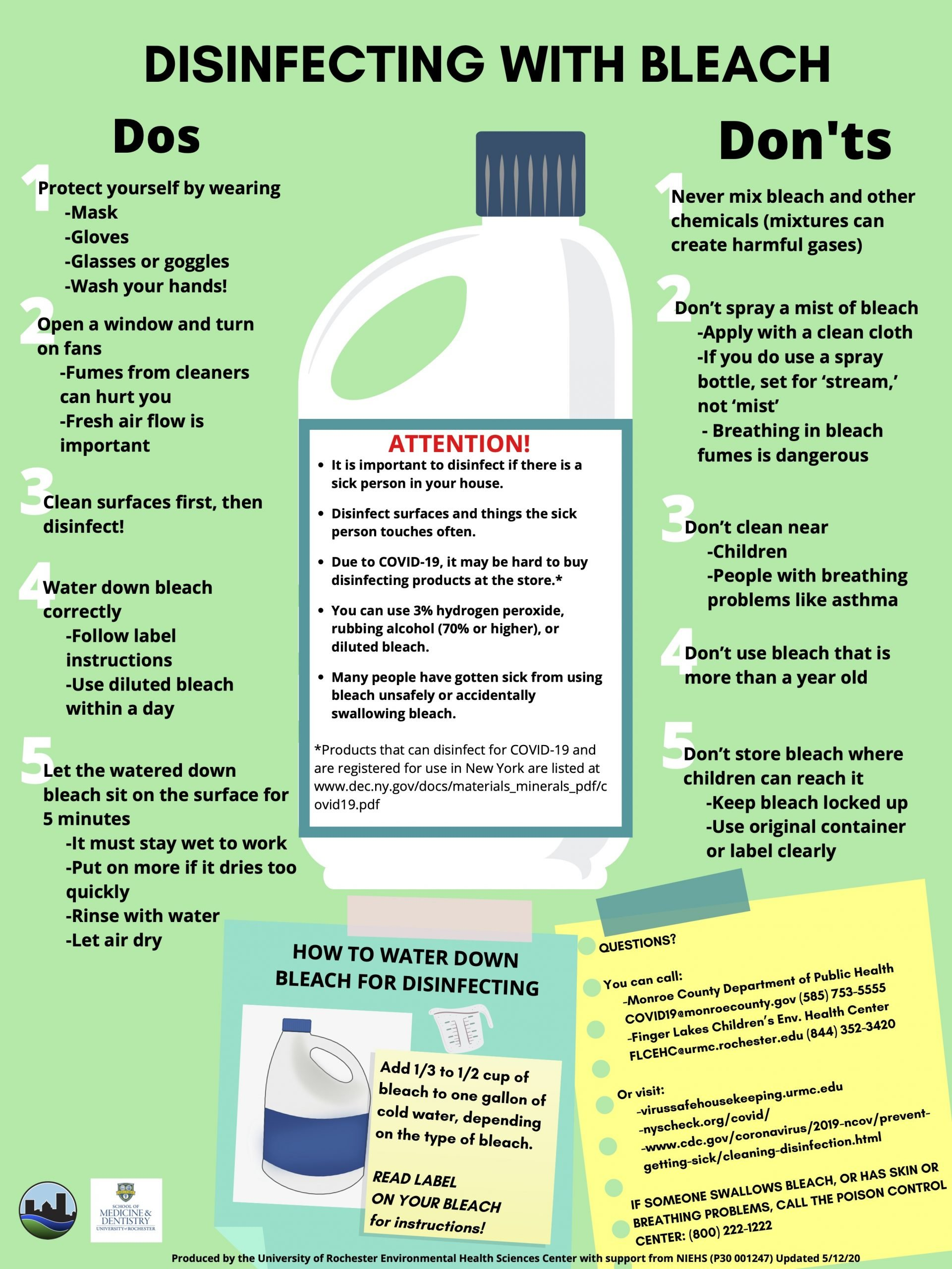 DOs AND DON'Ts FOR DISINFECTING WITH BLEACH 51220 (1)